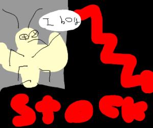Dead moth explains stock market