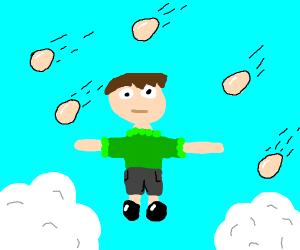 Its raining eggs! HALLELUJAH