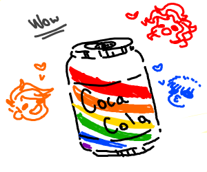 Rainbow coca cola