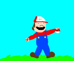 Mario is a Poke-Master