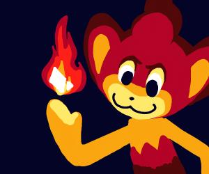 Evil Pansear burns paper