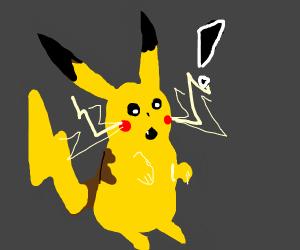 Pikachu is very surprised