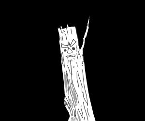 White stick man.