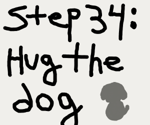 step 33 : the dog forgive you