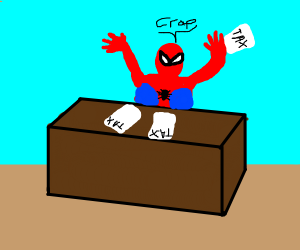 spider gets mad at taxes