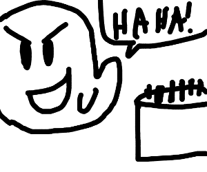 Evil ghost escapes from cake