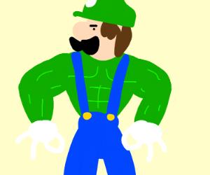 Buff Luigi with got em hands