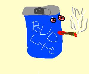 bud smokeing a bud