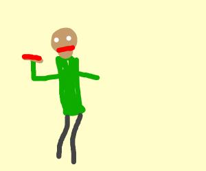 baldi eats a hotdog