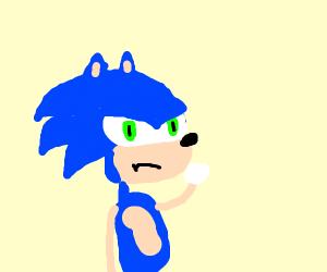 an angry hedgehog