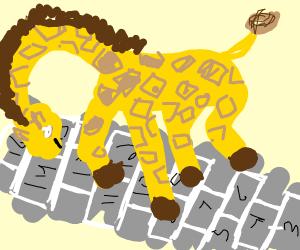 giraffe playin' hopscotch