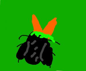 Weird bug with carrot antennae