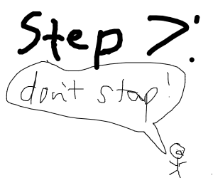 step 6 : stap