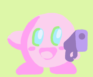 kirby with gun