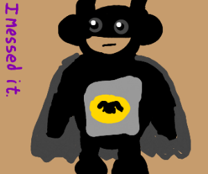 Batman as a teletubby