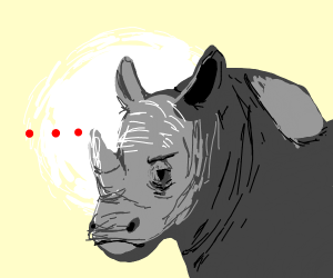 Rhino is most displeased