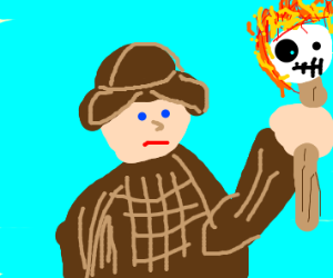 Sherlock Holmes with a Sans torch