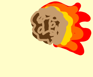 Giant flaming meatball