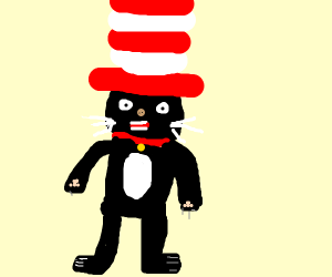 38968fd5 Cat in the Hat wearing a Hat - Drawception