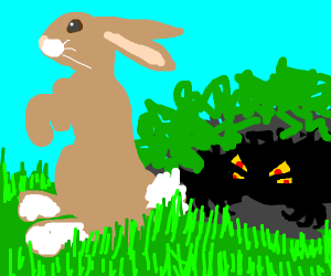 Bunny going to get ambush by a monster