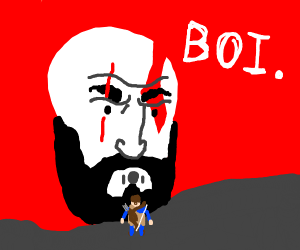 Kratos is mad at boy