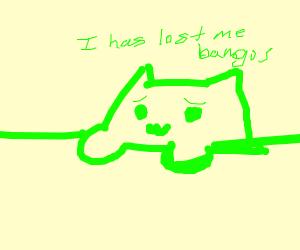 Green bongo cat minus bongos
