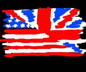 flag half USA/UK