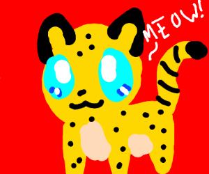 Kawaii Leopard meows
