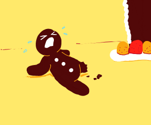 Gingerbreadman loses his leg T-T