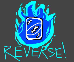 Blue Reverse Uno Card ACTIVATED!