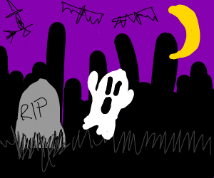 spooky haunted grave