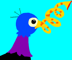 Bird with unusual beak