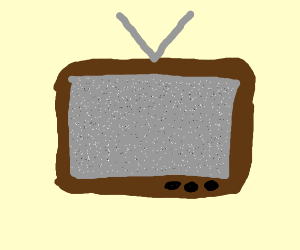 old tv with no signal