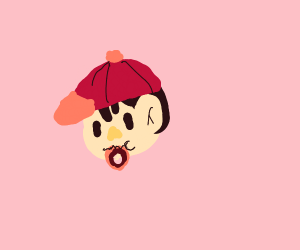 Ness eating a donut