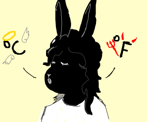 a bunny thinking of farenheit and celsius