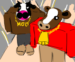 Kanye feat Lil pump: I love it, but with cows