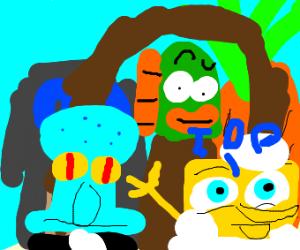 Squidward and SpongeBob wedding