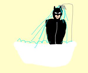 A superhero shower