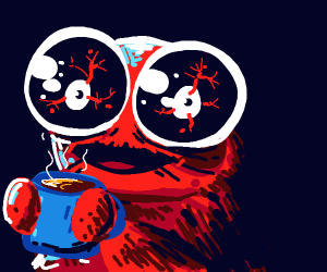 Coffee Monster, cookie monster's cousin