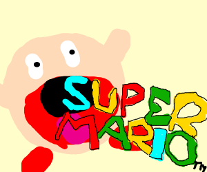 kirby literally sucking up mario's franchise