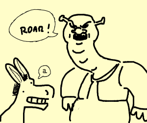 shrek yelling at donkey