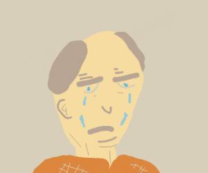 Poor, sad old man