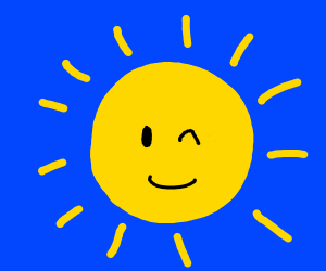 The sun winks at you