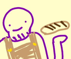 Thanos in bakery apron