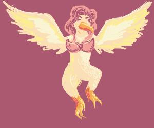 Flying Girl Bird
