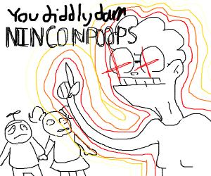 Grandma gets mad at kids