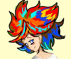 anime man with cliche hairdo