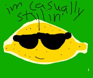 Lemon in glasses casually stylin'