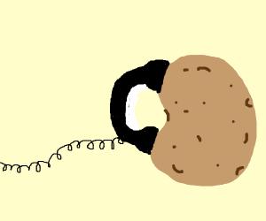 potato on phone