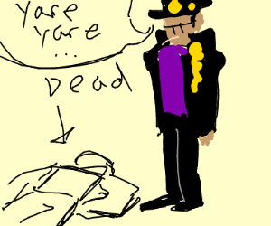 jotaro annoyed by dead person